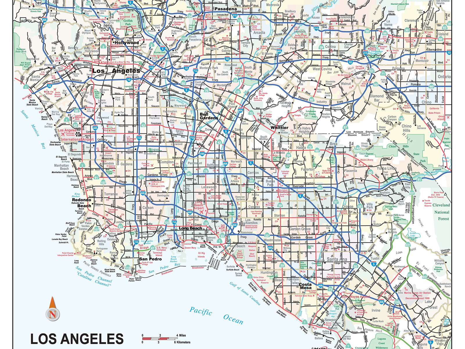 maps.com-los-angeles-city-and-metropolitan-area-wall-map
